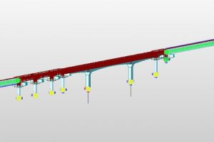 Special balanced cantilever bridge isometric view