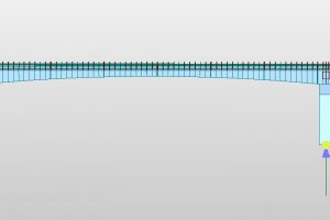 Special balanced cantilever bridge Longitudinal section